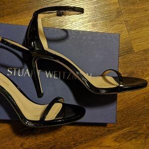 New Stuart Weitzman Black The Nudist Sandals
